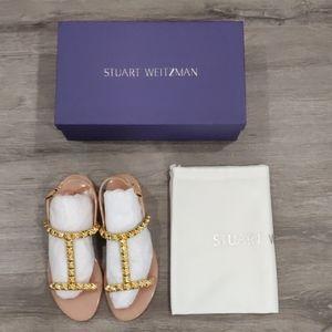 New Stuart Weitzman Jelrose sandals in ballet pink